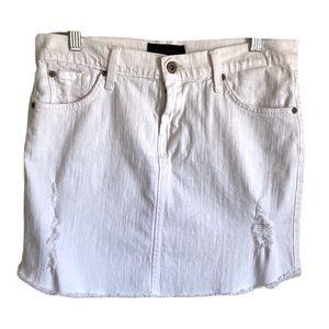 James Jeans White Daisy Mini Skirt Size 28